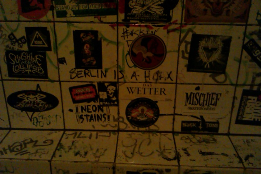 "Obligatory outrageous toilet graffiti - special love for ""Sunshine and Lollipops"" in the black metal style! :)"